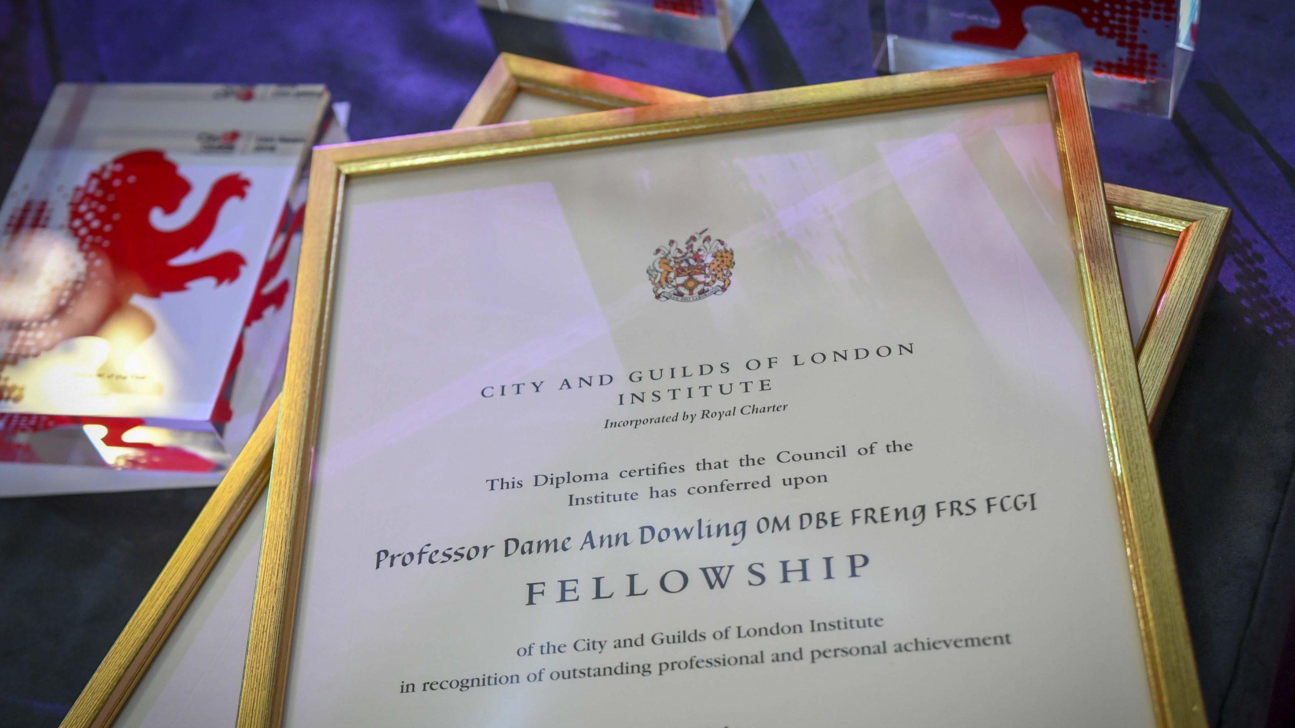 City & Guilds Fellowship Certificates