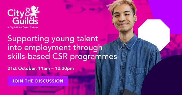 Supporting young talent into employment through skills-based CSR programmes